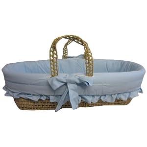 Baby Doll Satin Trim Moses Basket