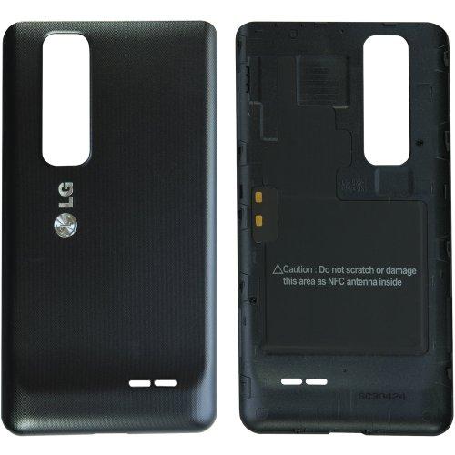 Original LG Akkudeckel für LG P720 Optimus 3D Max - black / schwarz mit NFC-Antenne (Batteriefachabdeckung, Akkufachdeckel, Rückseite, Back-Cover) - EAA62807601
