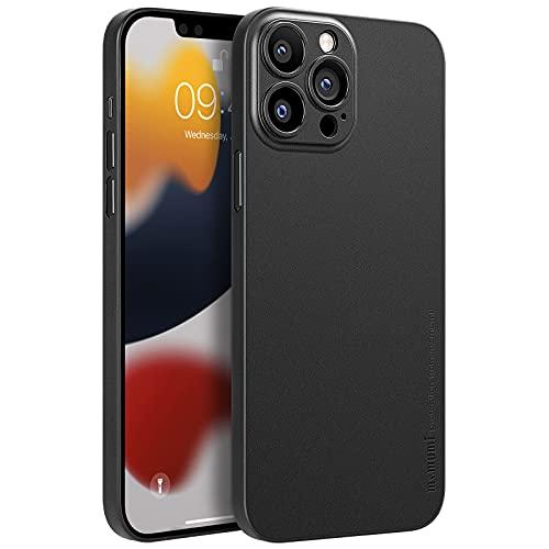 memumi [Versión de Actualización para iPhone 13 Pro Funda Delgado Ultrafina 0.3 mm Revestimiento Mate Protector Carcasa para iPhone 13 Pro 2021 Funda Slim con Anti-arañazos 6.1 Pulgadas Negro