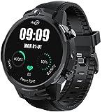 Smart Watch - Orologio da uomo Full Touch Display HD doppia fotocamera video chiamata GPS LTE 4G Wifi Smart Watch Phone 3 GB 32 GB Cardiofrequenzimetro, contapassi orologio (B)