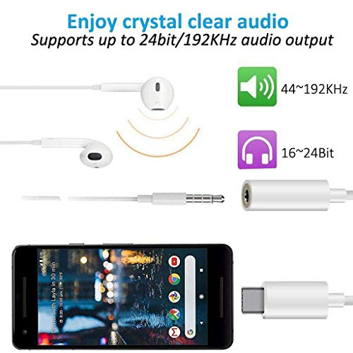 (2 Pack) ToneGod USB-C to 3.5 mm Headphone Jack Adapter, USB Type C Audio Aux Adapter Converter Compatible with Pad Pro…