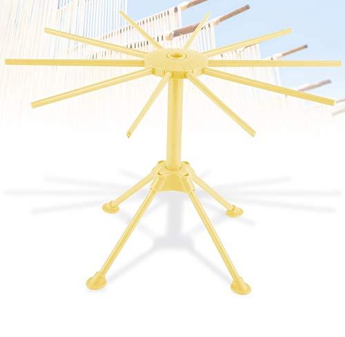 Nudel-Spaghetti-Teigwaren-Wäscheständer-Stand-Trockner-faltbares Nudel-Wäscheständer-Küchen-Werkzeug(Gelb)
