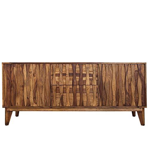 Invicta Interior Design Sideboard Retro 170cm Sheesham Stone Finish Design Klassiker TV-Board Kommode Palisander