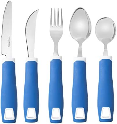 Special Supplies Adaptive Utensils 5 Piece Kitchen Set Non Weighted Non Slip Handles for Hand product image