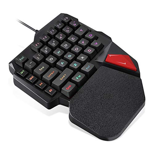 ZHHAOXINPA Cozy 34keys Gaming Keypad Mechanisch Gaming Keyboard, Wired Game Keypad voor Windows Pc, Laptop One Handed Rgb Game Keyboard Klassiek, Zwart
