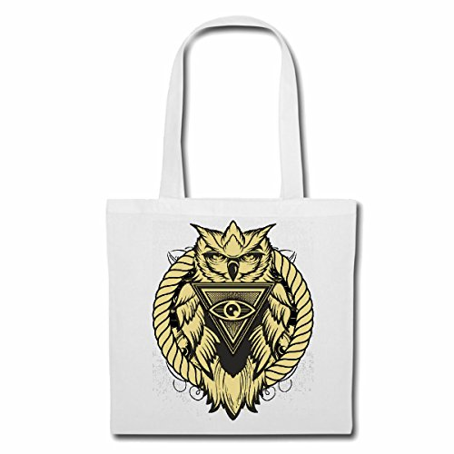 sac à bandoulière OWL LIFESTYLE FASHION STREETWEAR HIPHOP SALSA LEGENDARY Sac Turnbeutel scolaire en blanc