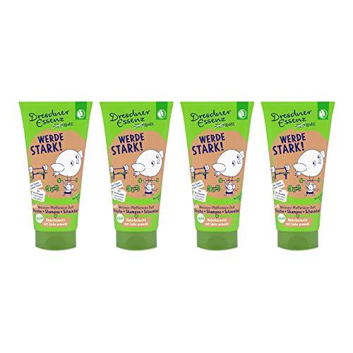 4er Pack Dreckspatz Duschbad & Shampoo - Werde stark! 4 x 200 ml