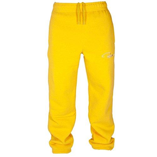 REDRUM Plain Pant Hose Jogginghose Sweatpant Freizeithose Sporthose (Farbe: Gelb, Größe: S)