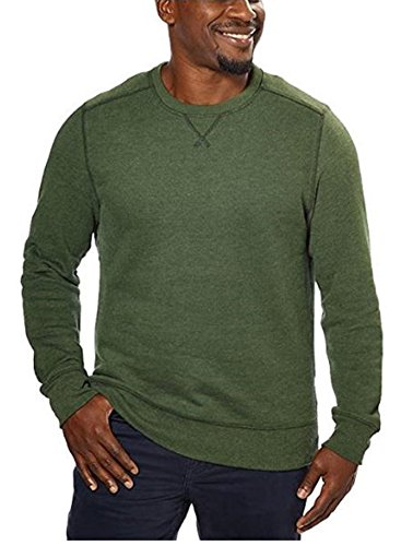 G.H. Bass Mens Crew Neck Sweatshirt (L, Green)