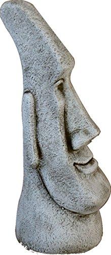 Estatua Cabeza DE Pascua Moai DE Piedra para Jardin O Exterior 77cm.