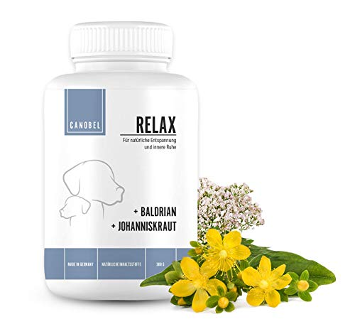 Canobel® Relax - Beruhigungsmittel für Hunde als Drops, Snack oder Leckerli - mit Baldrian & Johanniskraut - glutenfrei/getreidefrei/hypoallergen
