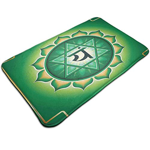Bathroom Rug Mat,Anahata Symbol Stands for Love Healing Linked to Compassion 19.5*31.5 inch, Extra Soft and Absorbent Rugs, Machine Wash Dry, Perfect Plush Carpet Mats for Tub, Shower,and Bath Room