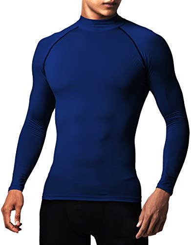Defender Men's Sports Compression Shirt Under Gear Jerseys Tights Fits Inner Soccer NV_2XL