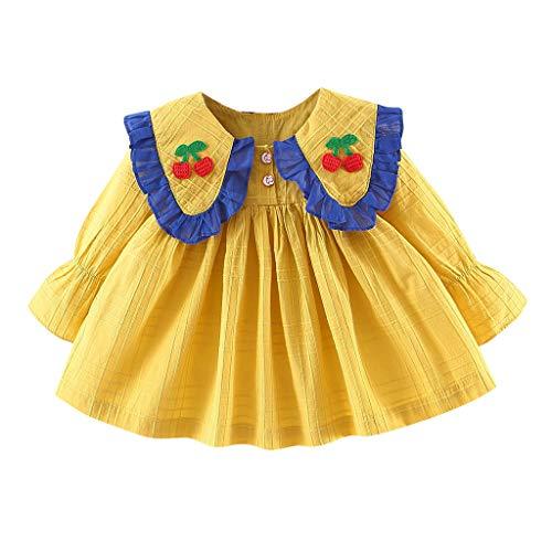 Julhold Peuter Baby Kids Meisjes Leuke Mode Ruches Ruches Linten Boog Jurken Eenvoudige Slim Casual Kleding 0-3 Jaar