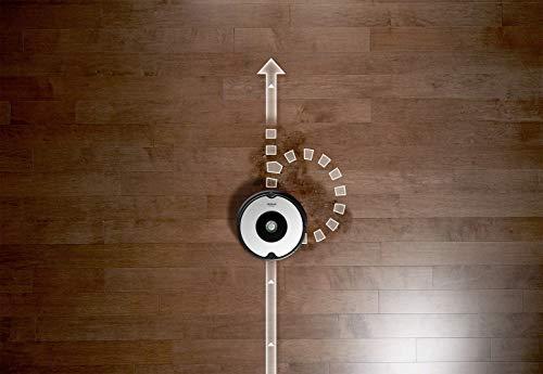 iRobot Roomba 605 Robot Aspirapolvere, Sistema di Pulizia ad Alte Prestazioni, Adatto a Pavimenti e Tappeti, Ottimo per i Peli degli Animali Domestici, 33 watt, Autonomia fino a 1 ora, Bianco