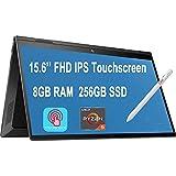 HP Envy X360 Business 2 in 1 Laptop, 15.6 inch FHD IPS Touchscreen, AMD Hexa-Core Ryzen 5 4500U (Beats i7-8550U), 8GB DDR4 256GB PCIe SSD, Backlit AlexaFP Win 10 + Pen