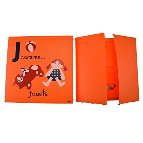 Incidence Paris 42314 Boite - Abécédaire - Jouets, Plastique, Orange, 32x32x15 cm