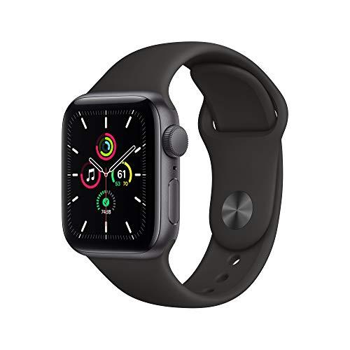 AppleWatch SE (GPS, 40mm) Aluminiumgehäuse Space Grau, Sportarmband Schwarz