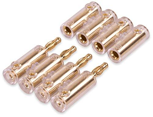 Yonix 4-Fach Bananenstecker | Steckverbinder | vergoldet | für Kabel bis 10 mm² | BSY-394