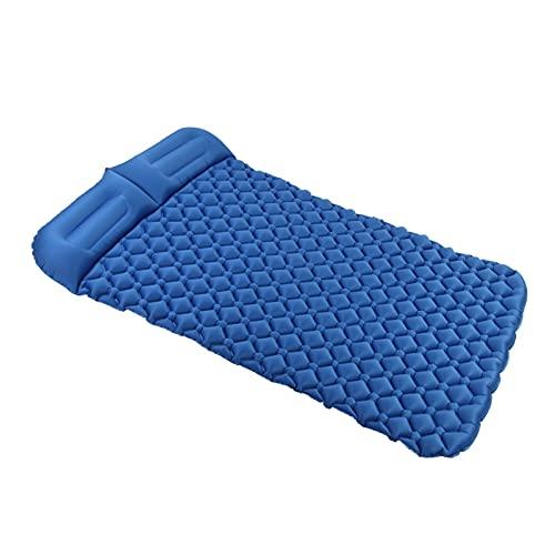 enioysun Esterillas Auto inflables Doble portátil a Prueba de Humedad colchón de Aire de Acampada Plegable Viaje al Aire Libre Senderismo alojamiento de Aire (Color : Blue)