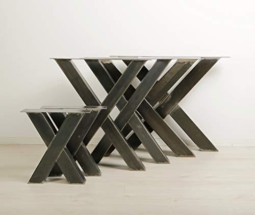 1 PAAR BestLoft® Kufen Design Tischkufen Industriedesign Tischgestell Stahl Tischuntergestell Tischkufe Kufengestell (Höhe:72cm x Breite:64cm)