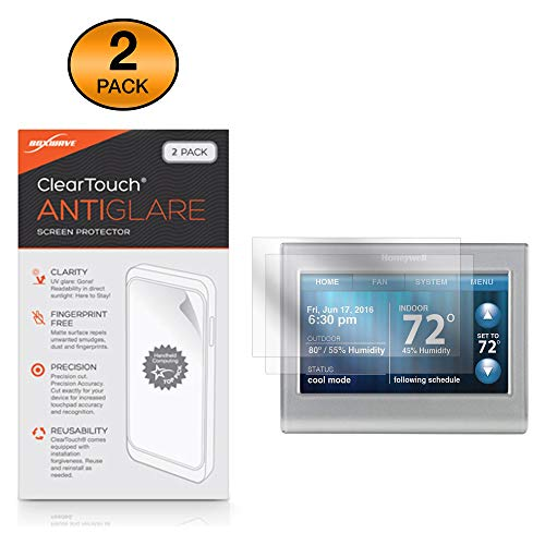 Honeywell Wi-Fi Smart Color Thermostaat (RTH9585WF) Screen Protector, BoxWave® [ClearTouch Anti-Glare (2-Pack)] Anti-vingerafdruk Matte Film Huid voor Honeywell Wi-Fi Smart Color Thermostaat (RTH9585WF)
