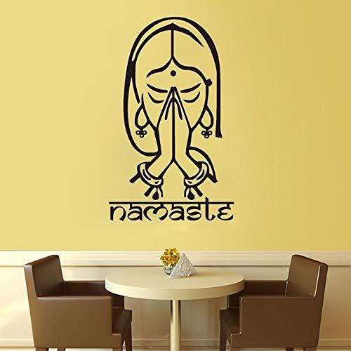 Tianpengyuanshuai Muursticker Yoga Indianen Muursticker Decoratie Huis Woonkamer Slaapkamer Kunstst Wanddecoratie