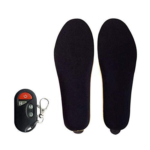 HWY Shoe Heater Deluxe inalámbrico, Plantilla térmica calentable, Plantillas con Modo de batería y Control Remoto, Balck Recargable