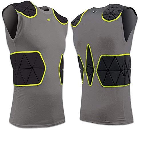 CHAMPRO FJU6 TRI-Flex Compression Shirt CH Charcoal Adult Small