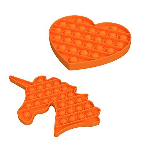YUDOXN Fidget Toy, Push Bubble Fidget Juguete Sensorial para Aliviar El Estrés Juguete para Autismo Necesidades Especiales para Aliviar El Estrés para Niños Adolescentes Adultos Mujeres 2PCS …