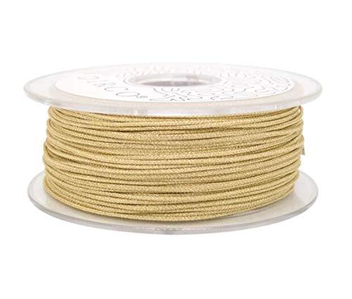 CHENGTAO Alambre Trenzado Hilos De Nylon Finding Multistrand Cuerdas 1.0mm 20M For La Joyería Que Hace Que Rebordea La Cuerda De Encaje Handcrafting (Color : Light Gold, Size : 1.0mm 20M)