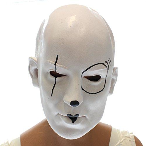 Masque pierrot effrayant grande qualité souple
