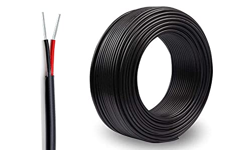 NorthPada 22 AWG 2 Leiter 22/2 Ader elektronischer elektrischer Draht Massiver Einzelstrang PVC verzinnt Kupferkabel Kabelspule 5 Meter