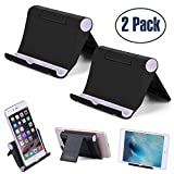 Cell Phone Stand Multi-Angle,【2 Pack】 Tablet Stand Universal Smartphones for Holder Tablets(6-11'),...