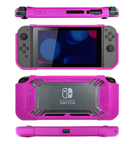 snakebyte Tough Case - Robust protective case for your Nintendo Switch console - Stylish design - easy installation - perfect protection - Strawberry pink