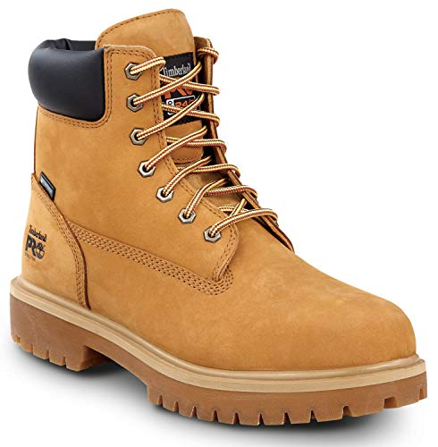 Timberland PRO 6-inch Direct Attach Men's, Wheat, Steel Toe, EH, Slip Resistant, Waterproof Boot (9.0 W)