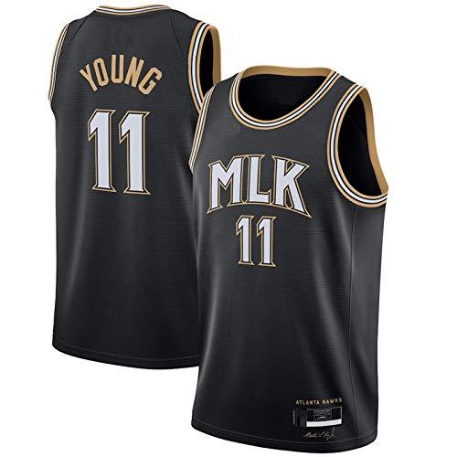 DSHJK Trae Camiseta de baloncesto Joven Atlanta 2020/21 temporada Hawks Away Black Jersey #11City Edition Deportes Tecnología Tela Malla Jersey