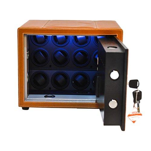 Safewinder® 12 DELUXE TAN Uhrenbeweger & Safe