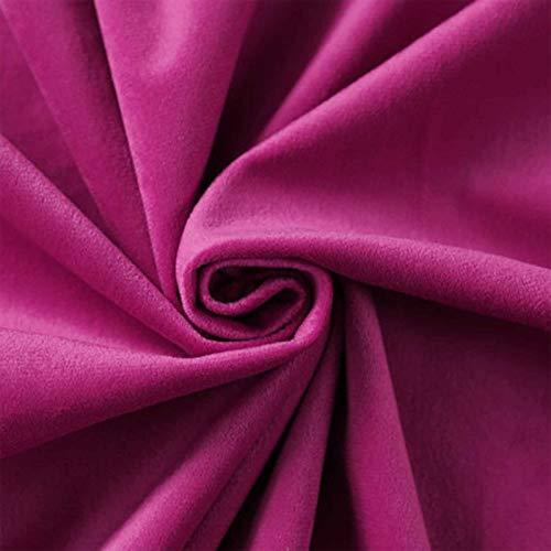 Tela de terciopelo rojo rosa claro, tela decorativa de terciopelo prensada, tela de terciopelo de seda y terciopelo, tamaño: 1,55 m x 1 m (color: rosa rojo)
