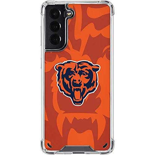 Skinit Clear Phone Case Compatible with Samsung Galaxy S21 5G - Officially Licensed NFL Chicago Bears Double Vision Design
