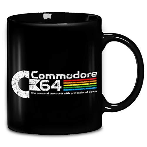 Black Commodore 64 Distressed Logo Mug Gift