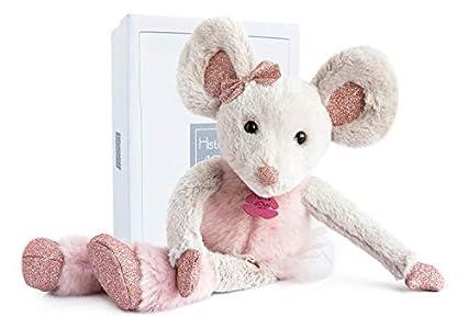 Histoire d'Ours - Peluche de ratón, 25cm Rose Bonbon Talla:Moyenne/37 cm