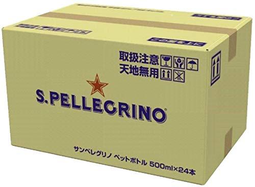 サンペレグリノ(S.PELLEGRINO) 炭酸入りナチュラルミネラルウォーター PET 500ml×24本直輸入品