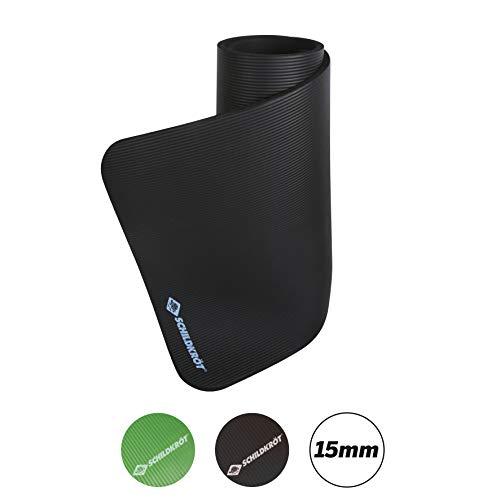 Schildkröt Fitness Fitnessmatte, 15 mm, Schwarz, mit Tragegurt, 960160