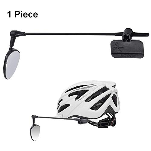 Bicycle Rearview Mirror Mountain Road Bike Helmet Back Mirror Gimbal Angle of The Adjustable Mirror Can Be Rotated 360 Degrees Safety Bicycle Mirror (Color : Black, Size : 20cm)
