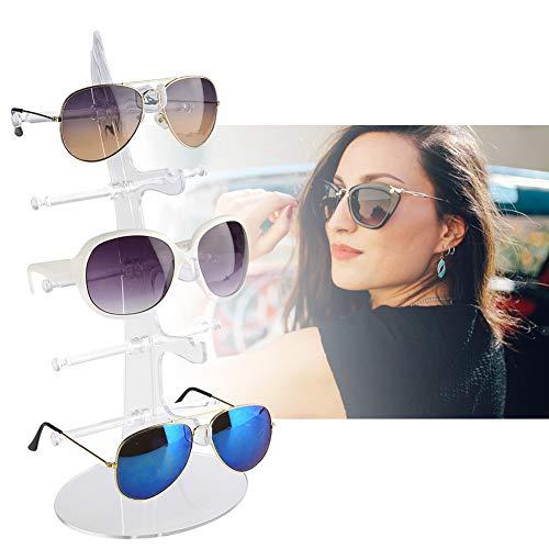 5 pares de estantes de anteojos de plástico, gafas de sol Soporte de exhibición Soporte para almacenamiento en rack Soporte para rack de anteojos Soporte para exhibición de marco(Transaperant)