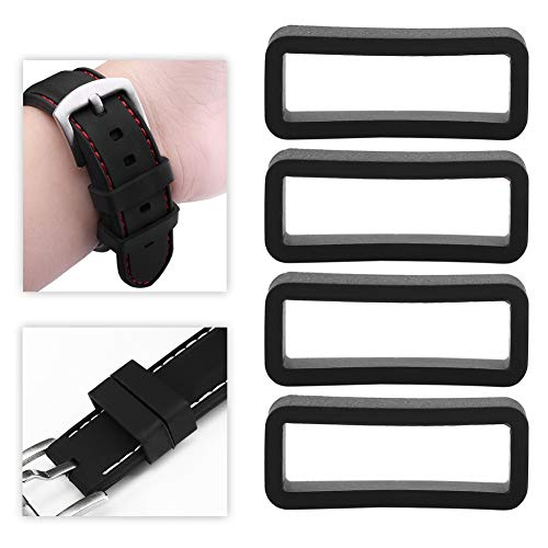 Brrnoo 4 Pcs Replacement Silicone Watch Strap Safety Buckle Watch Accessory (18mm)