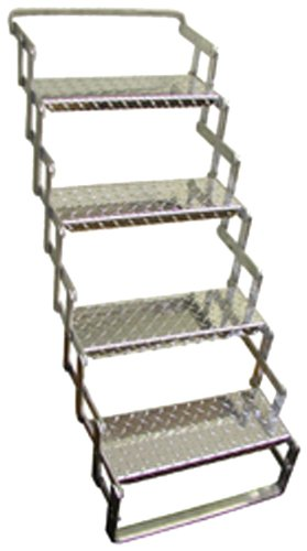 C. R. Brophy AS04 Aluminum Scissor Steps - 4 Step, 31' - 39' Extended Vertical Height