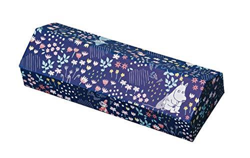 カミオジャパン メガネケース ムーミン ネイビー セミハード マグネット式 合皮 クロス 付き 森