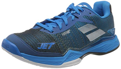 Babolat Chaussures de Tennis Jet Mach II Clay pour Homme Bleu foncé/Bleu Marine 39 EU